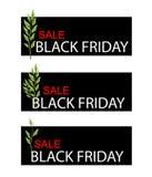 Pedilanthus Tithymaloides Plants on Black Friday Sale Banner Stock Photos