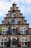 Pediment. Typical pediment of small houses in Netherlands Stock Images