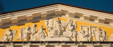 Pediment of the Admiralty Stock Photo