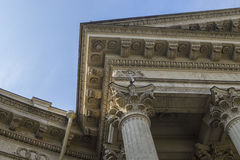 Pediment of architecture. Pediment of Kazan Cathedral,Saint Peters burg,Russia Stock Images