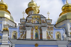 Pediment with frescoes of St. Michael's Cathedral Royalty Free Stock Image