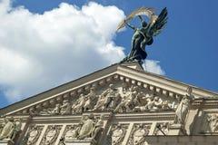 Pediment Lviv Opera House 2 Royalty Free Stock Images