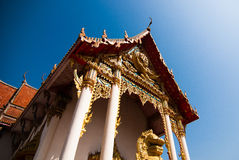 The pediment of the temple, Thailand Stock Image