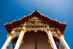 The pediment of the temple, Thailand Royalty Free Stock Image