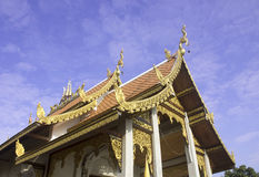 The pediment of the temple, Thailand Stock Photos
