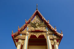 The pediment of the temple in Thailand Royalty Free Stock Image