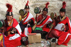 Pedintes tibetanos foto de stock royalty free