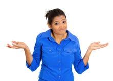 Pedir da mulher o que é o problema Imagens de Stock