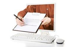 Pedir sua assinatura Imagens de Stock Royalty Free