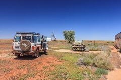 Off road driving with Toyota Land Cruiser through the Outback of South Australia. Pedirka Railway Station Ruins, Oodnadatta Track, South Australia, Australia, 19 royalty free stock photos