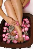 Pedispa - indulgence for feet Royalty Free Stock Images