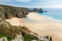 Pedn Vounder Beach Cornwall England Stock Image