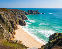 Pedn Vounder Beach Cornwall Stock Photo