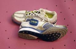 Pedometer & schoenen Royalty-vrije Stock Foto
