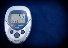 Pedometer In Blue Stock Photos