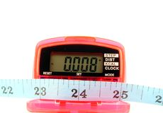 Pedometer with tape measure Royalty Free Stock Image
