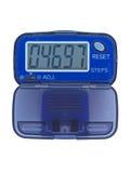 Pedometro blu Fotografia Stock Libera da Diritti