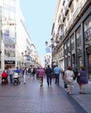 Pedonal gata, Zaragoza, Spanien Royaltyfri Fotografi