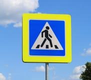 Pedone del segnale stradale immagini stock libere da diritti