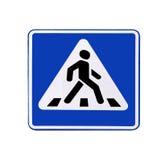 Pedone del segnale stradale (passaggio pedonale) isolato   Fotografie Stock
