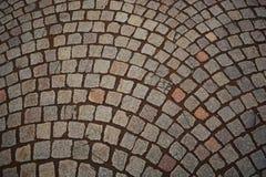Pedone di pietra del marciapiede Immagine Stock