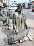 Pedoni anonimi, Wroclaw, Polonia Fotografie Stock