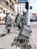 Pedoni anonimi, Wroclaw, Polonia Fotografia Stock Libera da Diritti