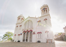 PEDOULAS, CIPRO - MAGGIO 2016: Chiesa greco ortodossa in Pedoulas, Cipro Fotografie Stock Libere da Diritti