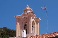 PEDOULAS, CYPRUS/GREECE - 21 JULI: Kykkosklooster dichtbij Pedoul royalty-vrije stock foto