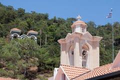PEDOULAS, CYPRUS/GREECE - LIPIEC 21: Kykkos monaster blisko Pedoul obrazy stock
