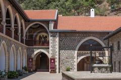 PEDOULAS, CYPRUS/GREECE - LIPIEC 21: Kykkos monaster blisko Pedoul zdjęcie royalty free