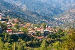 Pedoulas, een populair toeristisch dorp royalty-vrije stock afbeelding