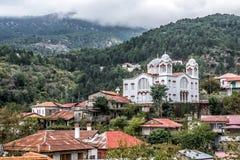 Pedoulasdorp in het District van Nicosia van Cyprus, in t wordt gevestigd dat royalty-vrije stock afbeeldingen
