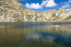 Pedourres lake - Andorra. Pedourres lake in Andorra, Pyrenees mountain, summer day Stock Photos