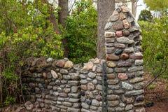 a pedra abandonada do vintage estilo velho decorou portas Fotografia de Stock