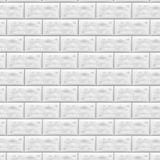 Pedra alinhada com granito parede de pedra do fundo Enfrentando a pedra Parede de tijolo branca no teste padrão da telha do metro ilustração do vetor