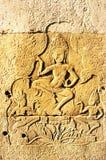 Pedra antiga do khmer de Cambodia Imagem de Stock