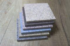 Pedra artificial acrílica da amostra Imagem de Stock