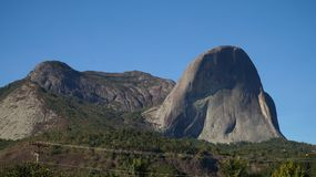 Pedra Azul rock mountain in Brazil. Views from  and on to the rock Stock Images