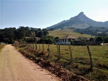Pedra Branca en Cristina, Minas Gerais imagen de archivo