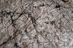 Pedra calcária escura com sulcos escuros fotos de stock royalty free