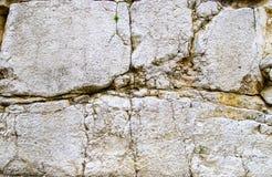 A pedra calcária oxidou e fraturou o fundo Fotografia de Stock
