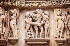 Pedra cinzelada, Khajuraho Imagem de Stock