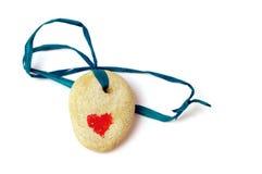 Pedra com coração. Foto de Stock