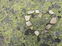 Pedra com coração Imagens de Stock Royalty Free