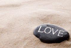 Pedra com mensagem Fotografia de Stock Royalty Free