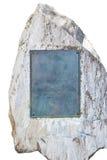 Pedra com placa vazia Imagem de Stock