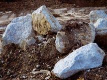 Pedra, concreto, argila Fotografia de Stock