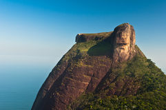 Pedra da Gavea Rock. Pedra da Gavea Mountain Peak, Famous Rock Formation in Rio de Janeiro, Brazil Royalty Free Stock Images