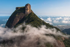 Pedra da Gavea Rock. Pedra da Gavea Mountain Peak, Famous Rock Formation in Rio de Janeiro, Brazil Stock Photo